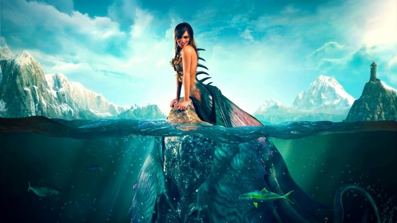 Beautiful-mermaid-smile-fish-sea-fantasy-art 1920x1080